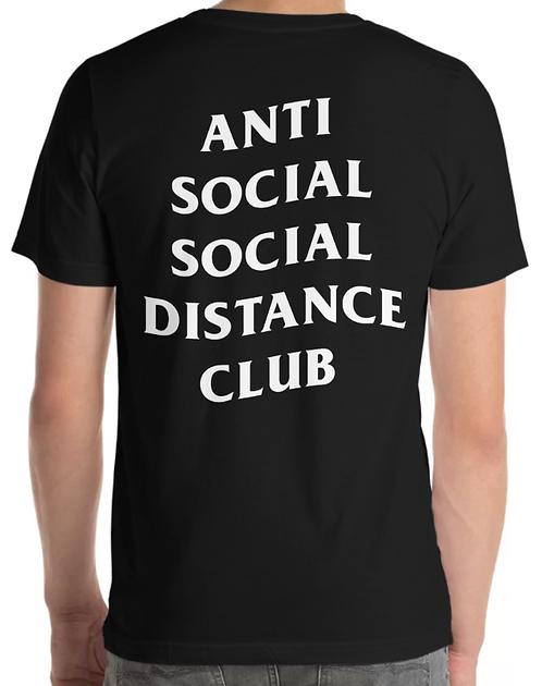 Social Distance Tee Black/White