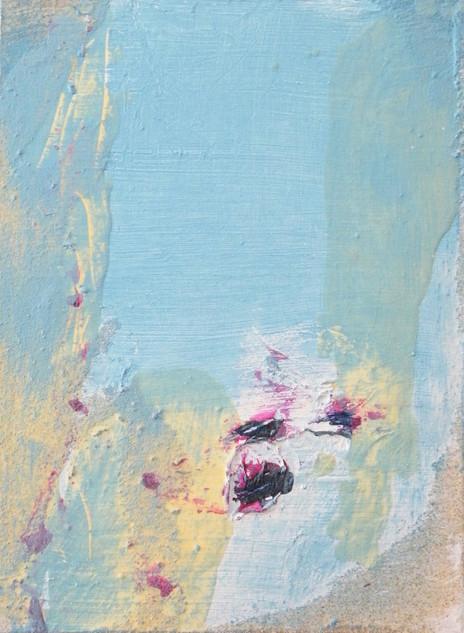 On the beach VI, oil and sand on canvas 40cmx30cm