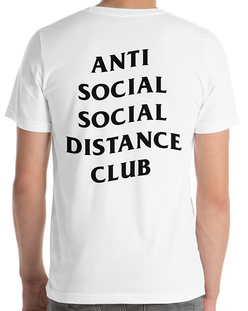 Social Distance Tee White/Black