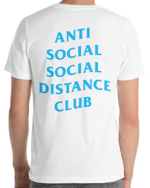Social Distance Tee White/Blue