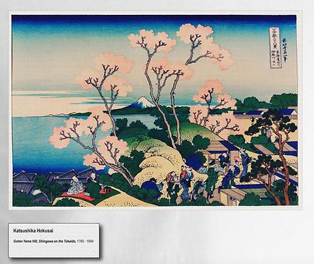 """""""Goten-Yama Hill, Shingawa on the Tokaido"""" Tee White"""