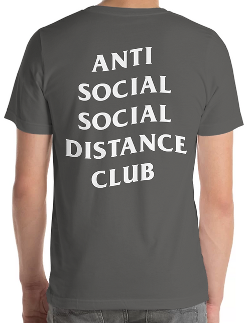 Social Distance Tee Charcoal/White