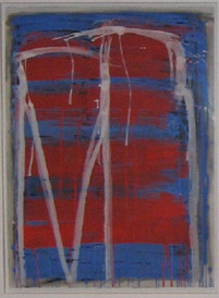 Untitled escarpment, graphite, charcoal & gouache on paper Dobell finalist, 103cmx63cm