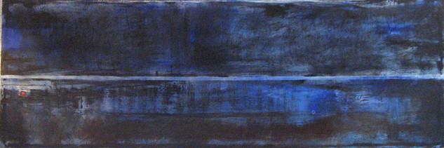 Coledale Beach, oil on canvas 106cm x 300cm