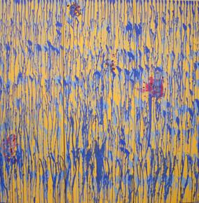 In my garden VI, oil on canvas, 3 x152cmx50cm