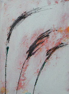Purple fountain grass II, oil on canvas  40cmx30cm