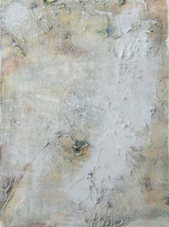 On the beach III, oil and sand on canvas 40cmx30cm