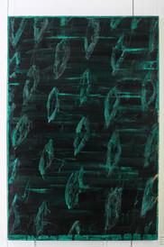 Naked Stargardt's I, oil on canvas 183cmx120cm