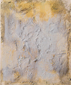 On the beach II, oil and sand on canvas 30cmx25cm