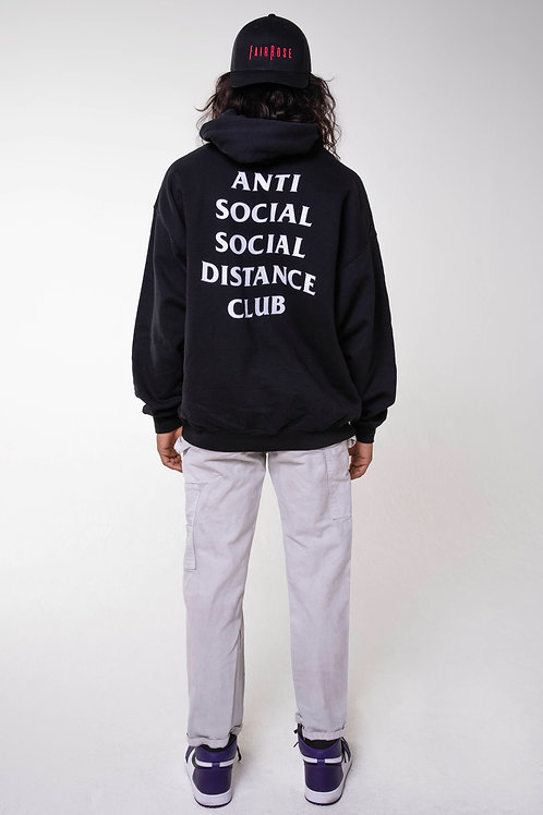 SOCIAL DISTANCE HOODIE BLACK/WHITE