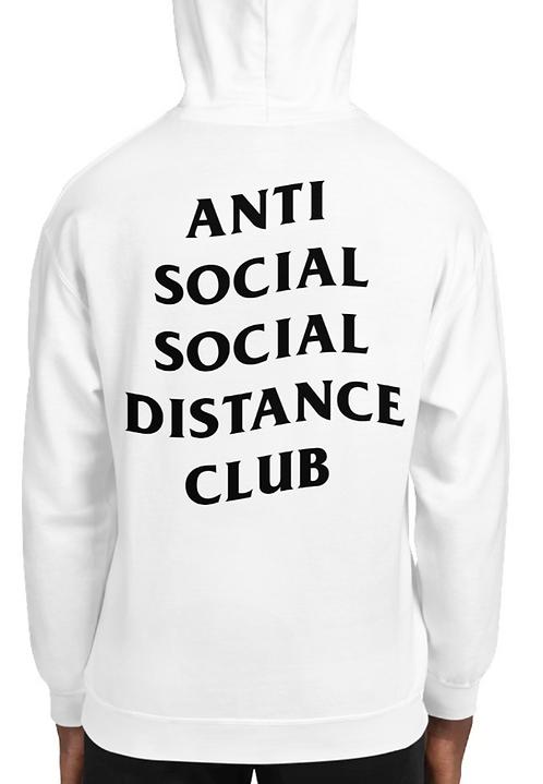 Social Distance Hoodie White/Black
