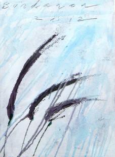 Purple fountain grass VII, oil on canvas  40cmx30cm