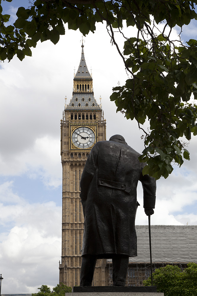 Big Ben, Winston Churchill Sculpture