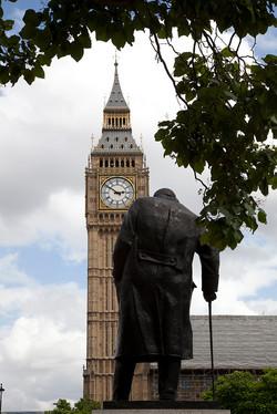 Big Ben, Winston Churchill Sculpture