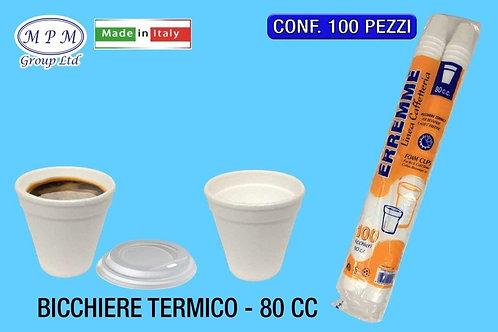 Bicchieri termici 80cc da 100pz*15cf con coperchio
