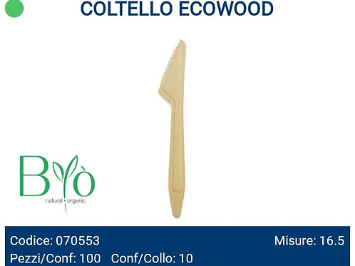 COLTELLI ECOWOOD in legno PZ.100