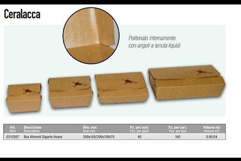Contenitore Per Alimenti Avana 30x16,5/290x150h70 PZ.40