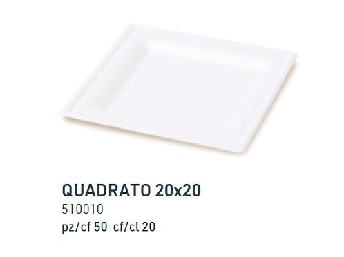 Piatto Quadrato 20x20 50pz
