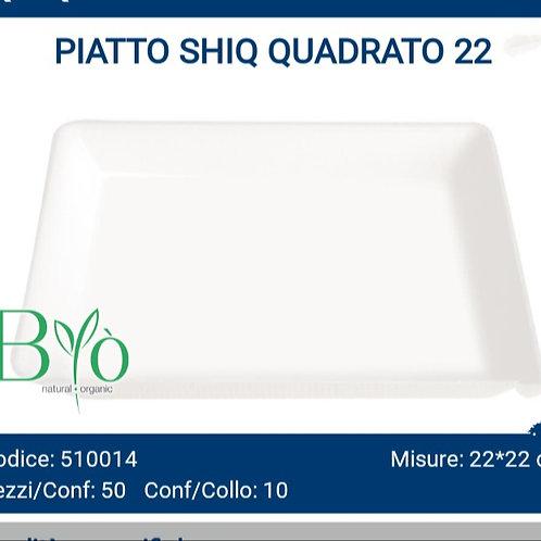 PIATTO bio SHIQ QUADRATO 22 PZ.50
