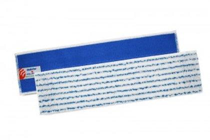 SKILL-FUR PANNO IN MICROFIBRA BIANCA A RIGHE BLU 40 CM CON SISTEMA A VELCRO