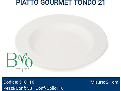 PIATTO bio GOURMET TONDO cm.21 PZ.50