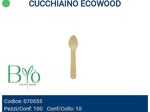 CUCCHIAINO IN LEGNO ECOWOOD PZ.100