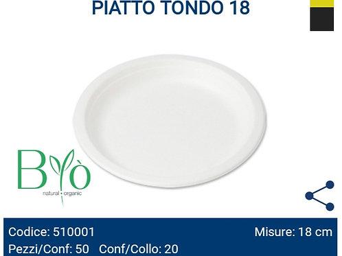 Piatto Tondo 18cm dessert 50pz