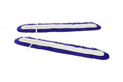 Frangia A Forbice In Acrilico Blu Con Tela Poliestere e Lacci (coppia)