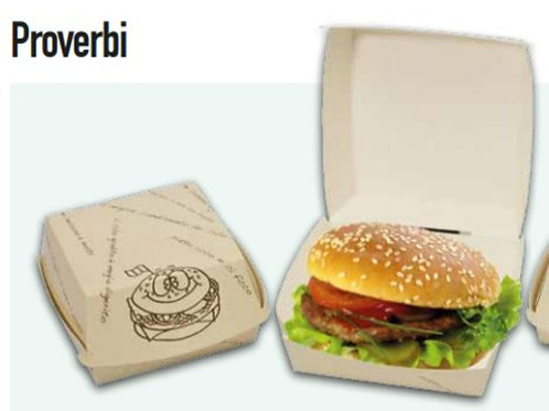 Porta Hamburger / Panino 12x12 h 7 proverbi PZ.100