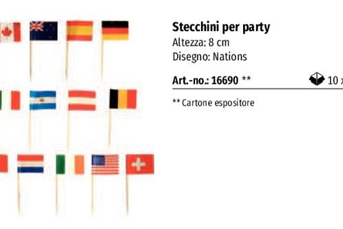STECCHINI BANDIERINE PARTY CM.8 PZ.500