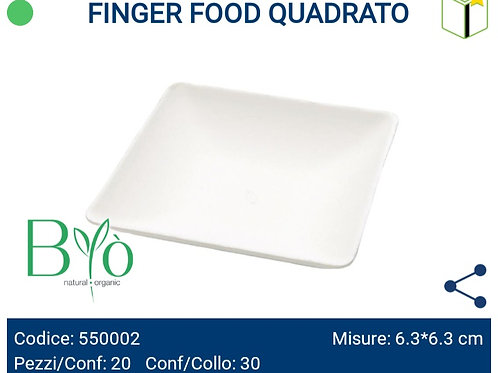 FINGER FOOD QUADRATO bio PZ.20