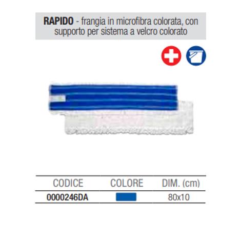 Rapido Frangia In Microfibra Bianca Con Supporto Per Sistema A Velcro