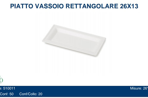 PIATTO VASSOIO RETTANGOLARE 26X13 PZ.50