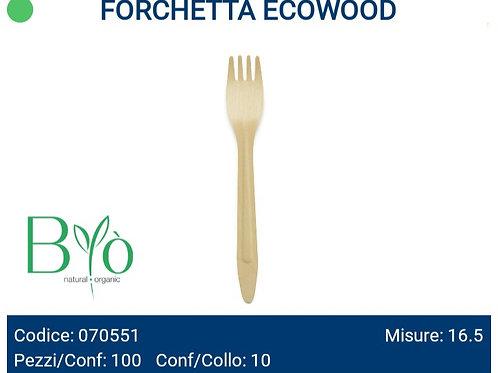 Forchetta in legno ecowood PZ.100