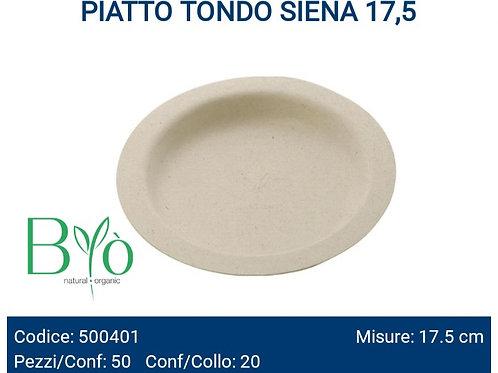 PIATTO bio TONDO SIENA 17,5 PZ.50