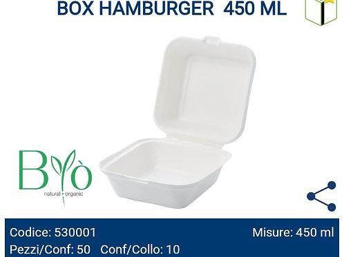 BOX HAMBURGER 450 ML PZ.50