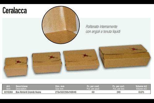BOX ALIMENTI GRANDE 215X160X48H AVANA Ceralacca PZ.50