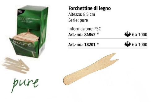 FORCHETTINE BIO IN LEGNO 2 PUNTE PZ.1000