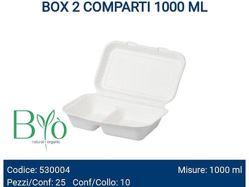 BOX 2 COMPARTI 1000 ML in cellulosa PZ.25