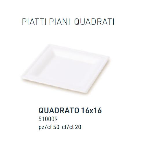 Piatto Quadrato 16x16 pz.50