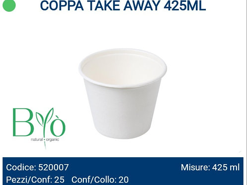 COPPA TAKE AWAY 425ML bio PZ.25