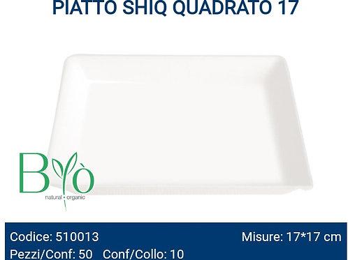 PIATTO bio SHIQ QUADRATO 17 PZ.50