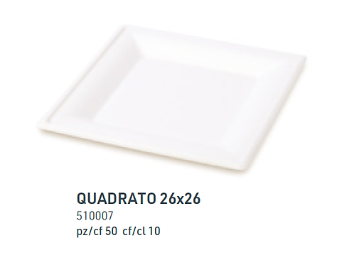 Piatto Quadrato 26x26 pz.50