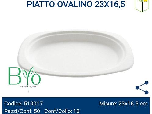 PIATTO OVALINO 23X16,5 PZ.50
