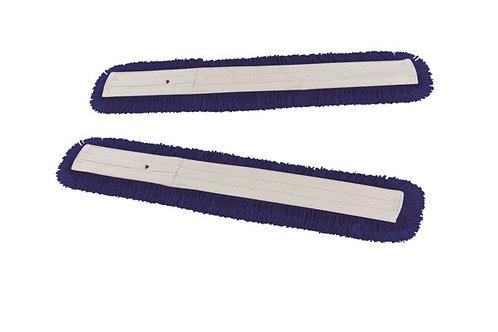 Frangia A Forbice In Acrilico Blu Con Bottoni (coppia)