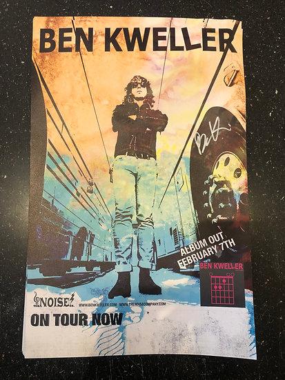 AUTOGRAPHED Ben Kweller Poster