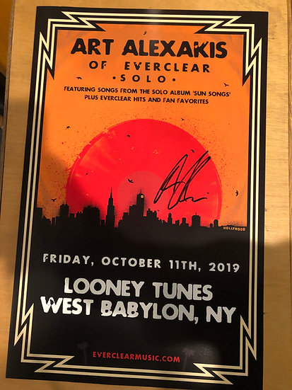 AUTOGRAPHED: Art Alexakis of Everclear Poster