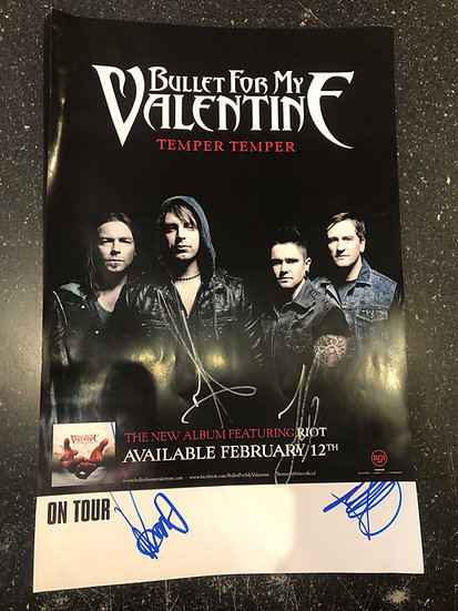AUTOGRAPHED Bullet For My Valentine Poster