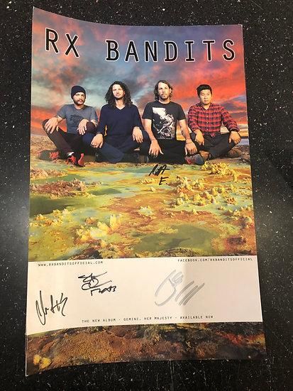 AUTOGRAPHED RX Bandits Poster