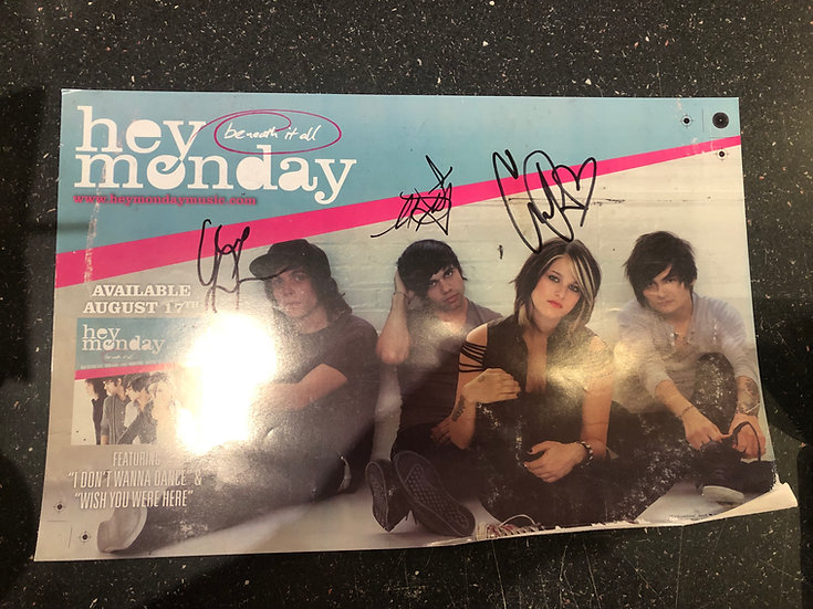 AUTOGRAPHED Hey Monday Poster